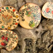 """Pray for the Peace of Jerusalem"" Olive Wood Magnets"